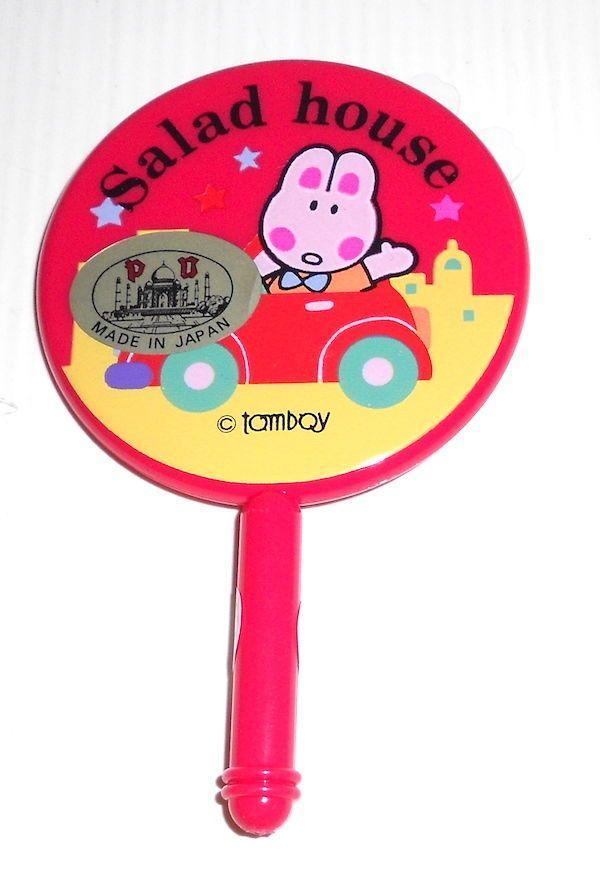 SALAD HOUSE 80s Lady Mate Japan kawaii tiny mirror bunny - specchio coniglietti