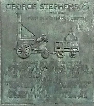 Plaque on George Stephenson's birthplace