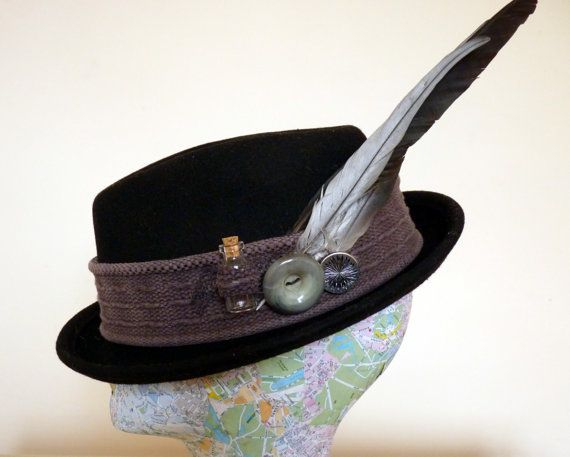 Steampunk hat Trilby Hat Hat Bowler Hat Top Hat by LulunaClothing