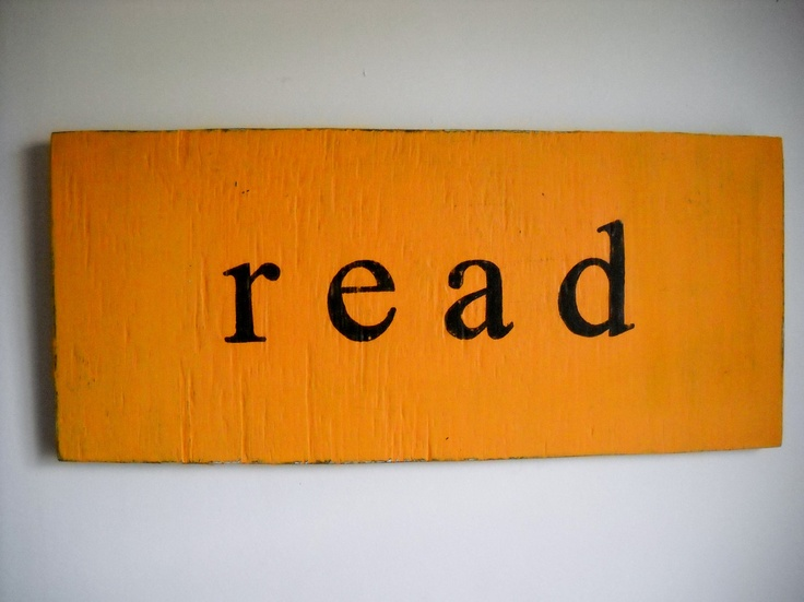 Vintage inspired read sign geekery typography