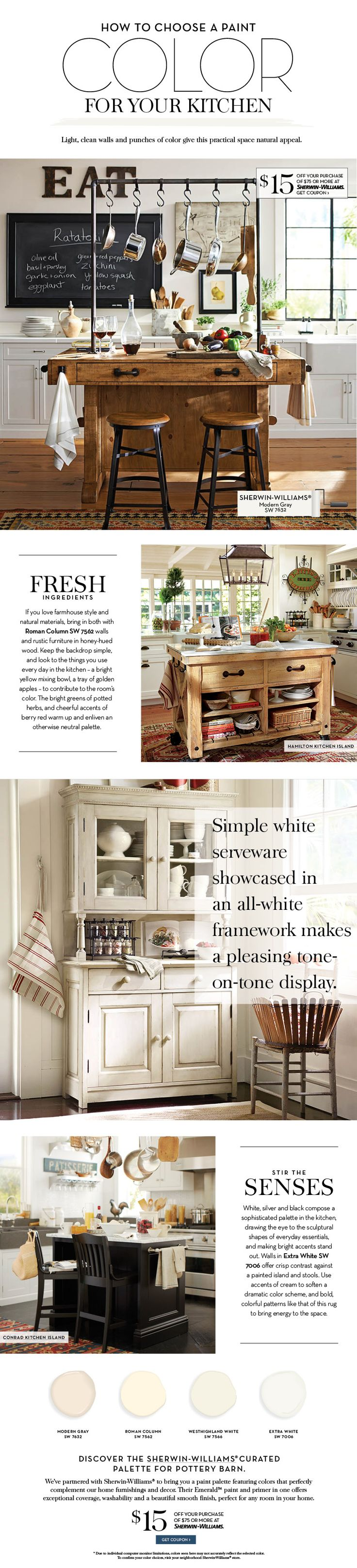 61 best butcher block images on pinterest butcher blocks how to choose a paint color for your kitchen with sherwinwilliams