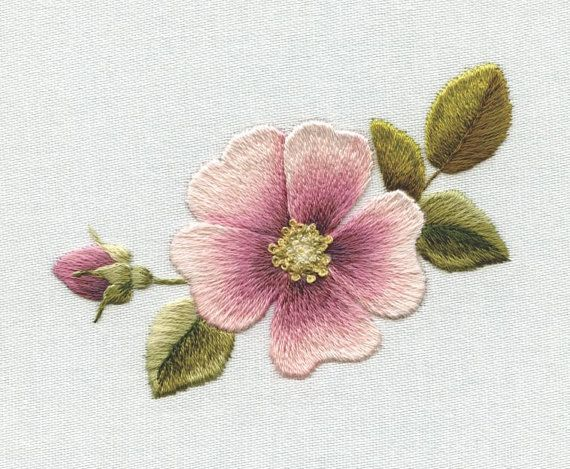 Digital Download   Dog Rose by TRISHBURREMBROIDERY on Etsy, $10.50
