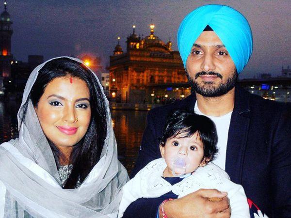 Geeta Basra and Harbhajan Singh celebrate Lohri with daughter Hinaya Heer. See Pic