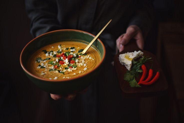 Marocký krém s kozím sýrem