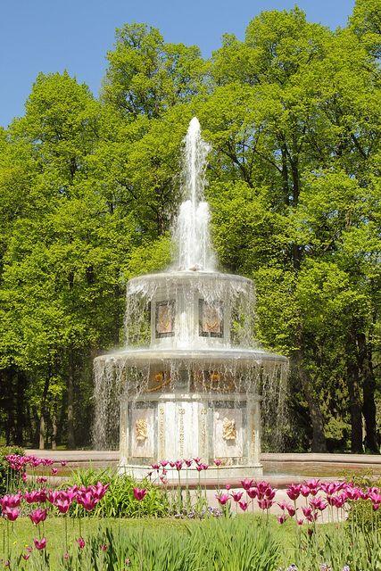Roman Fountain, Peterhof Palace, St Petersburg, Russia
