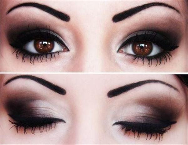 Amazing Black & Brown Smokey Eye Make Up Ideas, Looks & Images-10
