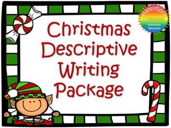 This Christmas Descriptive Writing Package includes a mini-lesson, 5 senses description activity, 5 descriptive writing prompts, graphic organizer, Christmas writing paper and a self-assessment checklist. Print and go - use with a Christmas/winter activity OR as a stand-alone writing activity.