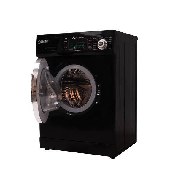 Equator EZ-400CV-Black 13 lbs Black Convertible Combo Washer Dryer with Optional Venting/ Condensing