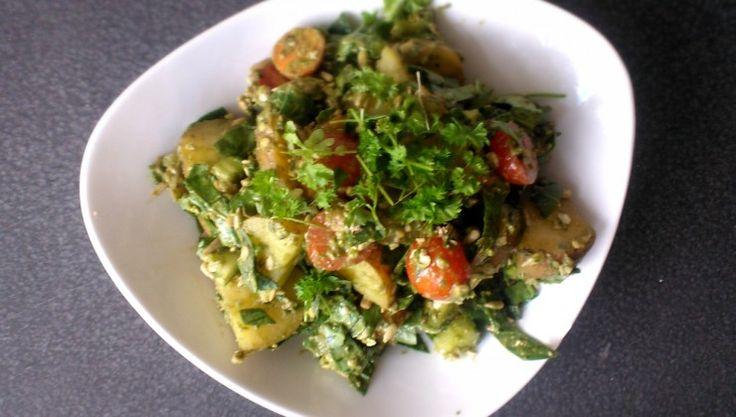 Spring explosion potato salad #vegan