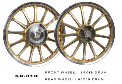 Buy ALLOY WHEEL SILVER GOLDEN(HARLEY 13 SPOKES) ROYAL ENFIELD KINGWAY On Special Discount From Safexbikes.com - Motorcycle Parts And Accessories Online Shopping