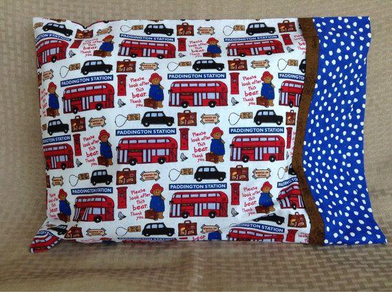 Paddington Bear Travel Pillowcase by StitchesandWishes on Etsy