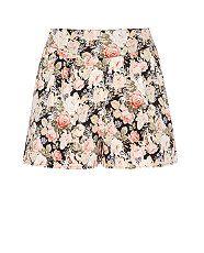 Black Pattern (Black) Black Floral Print Shorts | 300616009 | New Look | £14.99