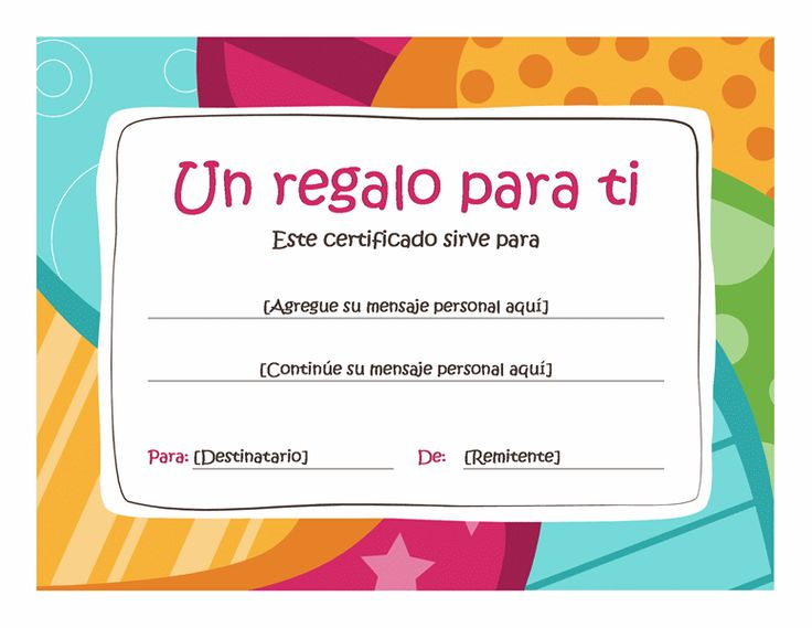 Certificado de regalo de cumplea os Plantillas Office – Make Your Own Gift Voucher Template