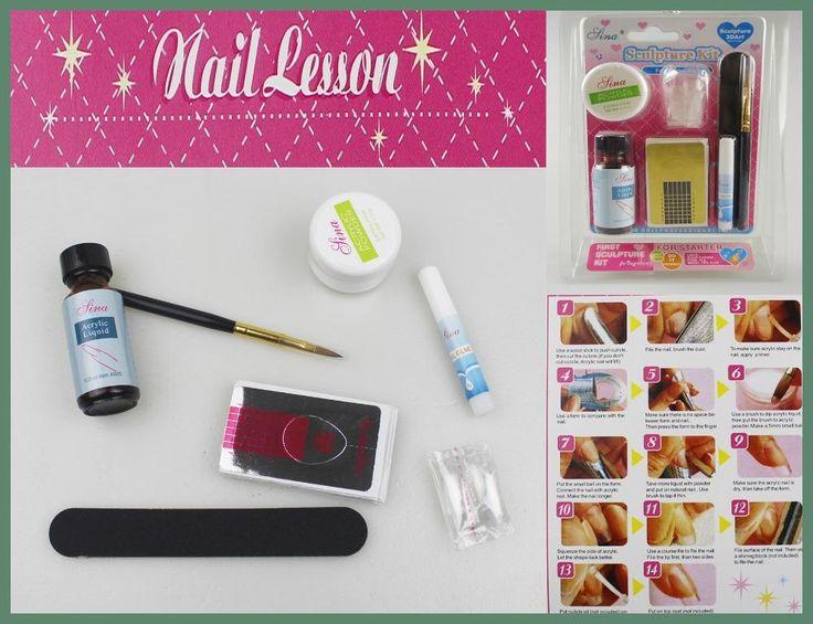 Acrylic Nail Kit Manicure Professional DIY Herramientas Set Nails Powder Art Tools Acryl Acrilico Ongles Unhas Manicura Tool