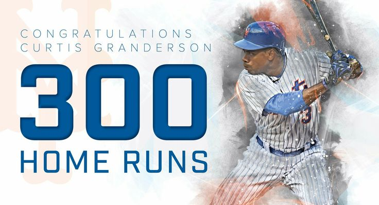 Curtis Granderson hits home run number 300 on June 14, 2017 at Citi Field.