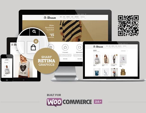 The Retailer Retina Responsive E-Commerce theme
