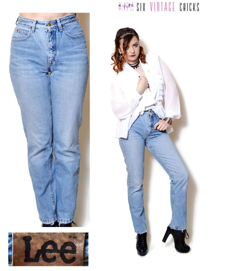 high waisted jeans lee jeans women straight leg denim pants vintage 90s clothing Women Clothing Minimalist womens Trousers rocker pants S by SixVintageChicks on Etsy