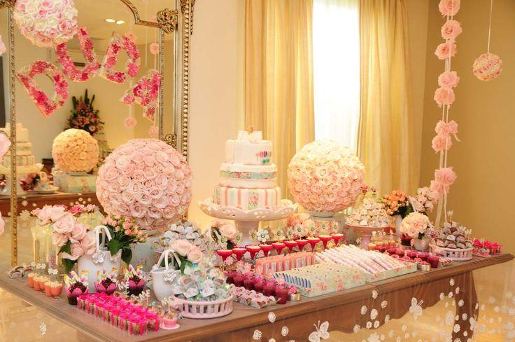 Cabecinha de Mel: Festa tema flores para meninas pequenas e grandinhas