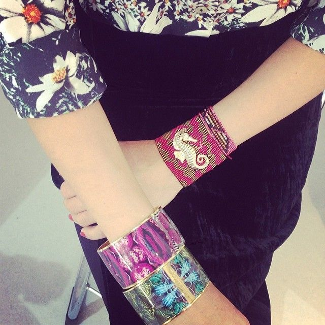 How amazing do these Amazonian beauties look together?? @FLOR AMAZONA #floramazona #fashion #jewelry #jewellery #cute #happy #love #bangle #a...