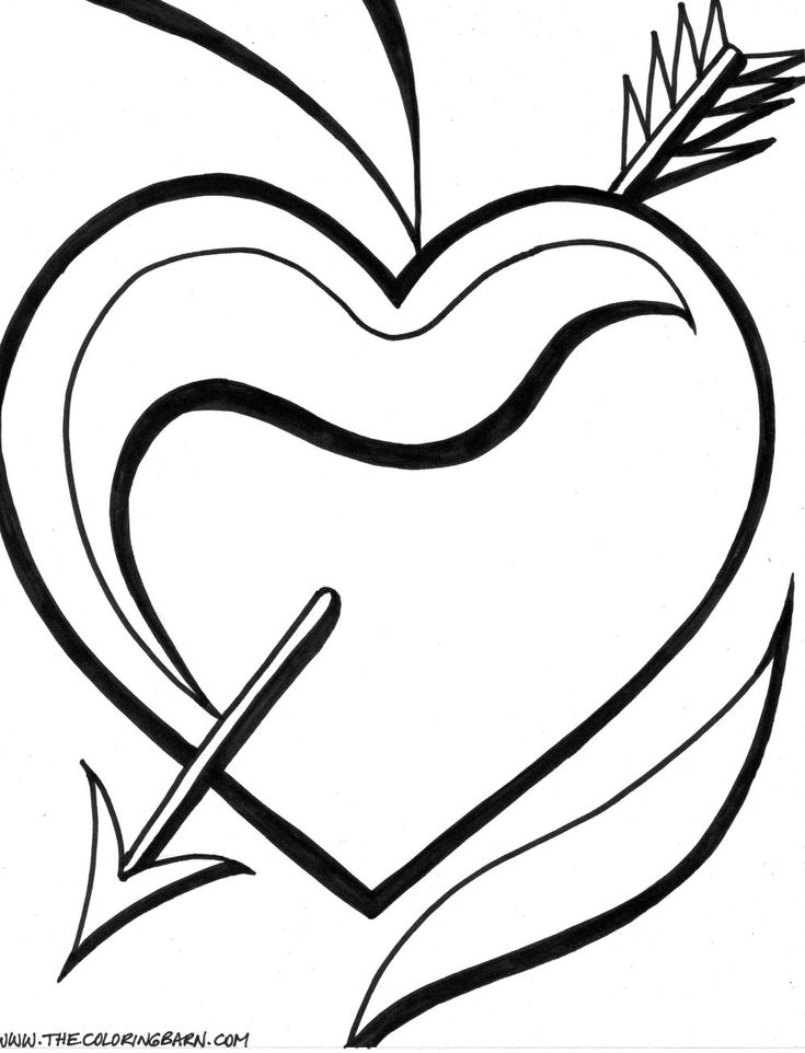 And Heart Coloring Page Roses