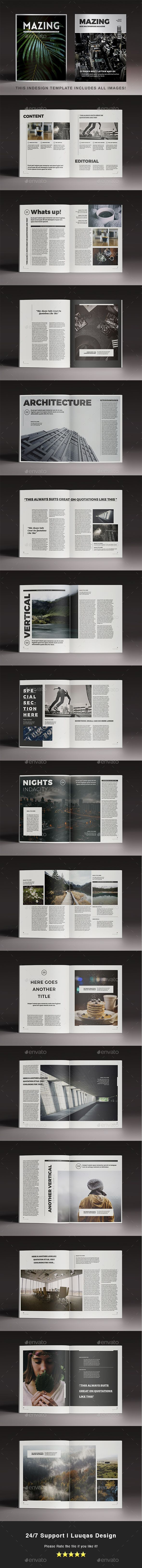 Mazing Magazine Template - Magazines Print Templates Download here : https://graphicriver.net/item/mazing-magazine-template/18942015?s_rank=103&ref=Al-fatih
