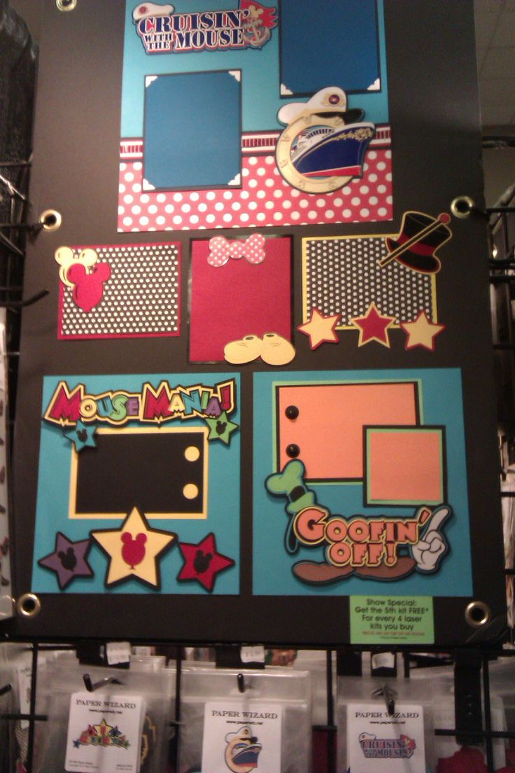 Mickey and Minnie Mouse page ideas Disney scrapbook