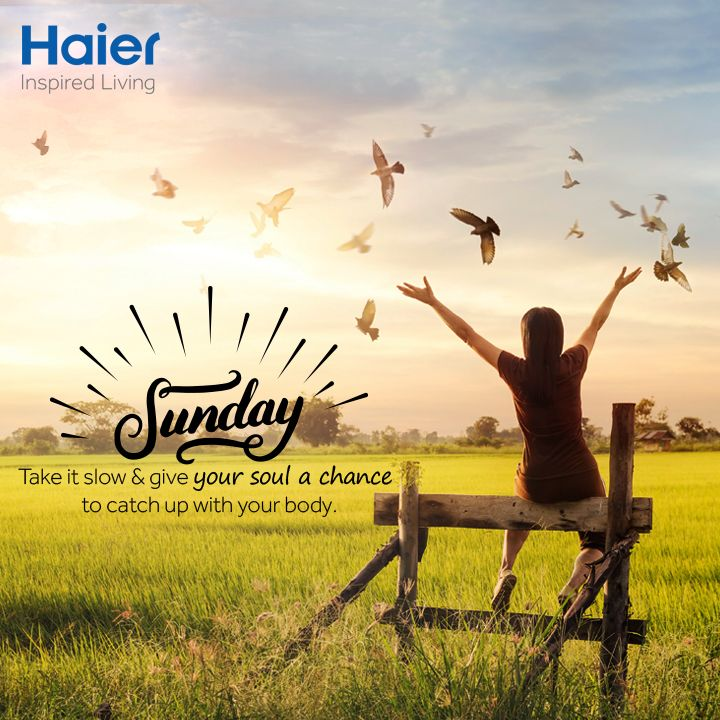 #HappySunday! This #weekend flew by! What all fun do you have planned today? #HaierLife