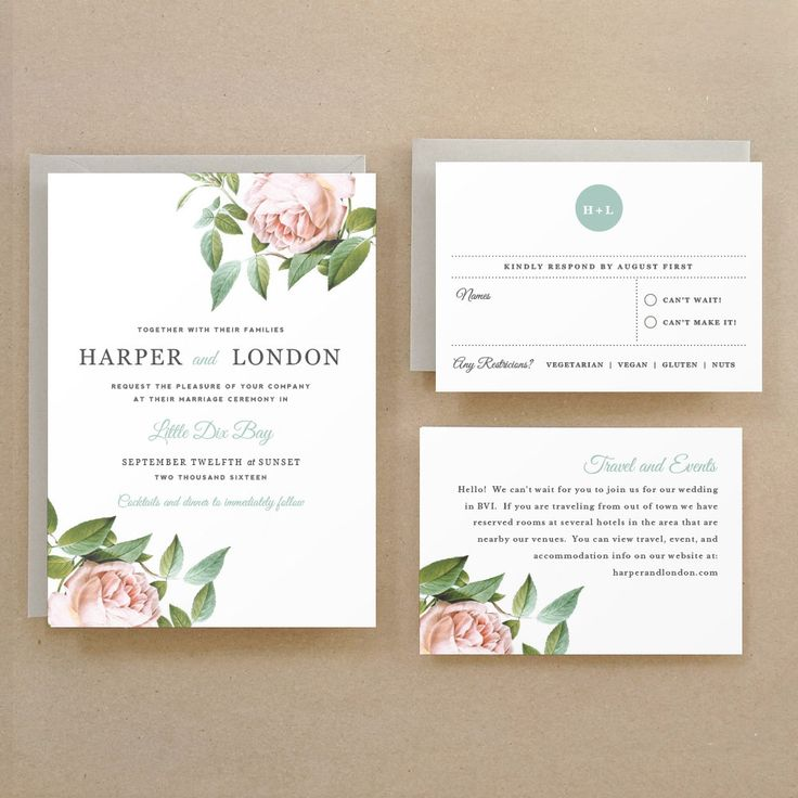 wildflower wedding invitation templates%0A Printable Wedding Invitation Template   INSTANT DOWNLOAD   Botanical   Word  or Pages  Mac or