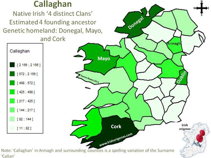 Callaghan | Irish Origenes: Use Family Tree DNA to Discover Your Genetic Origins | Clans of Ireland | Irish Surnames Map