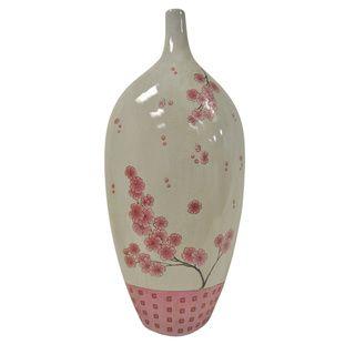 Cherry Blossom Stoneware Vase