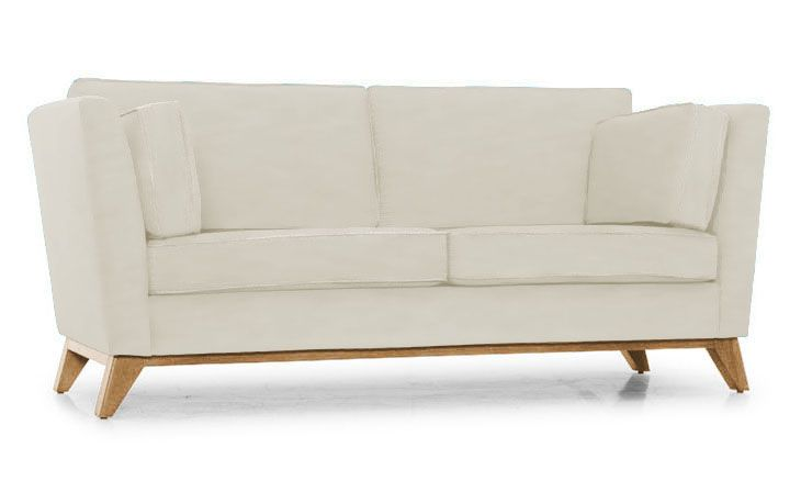Roller Leather Loveseat