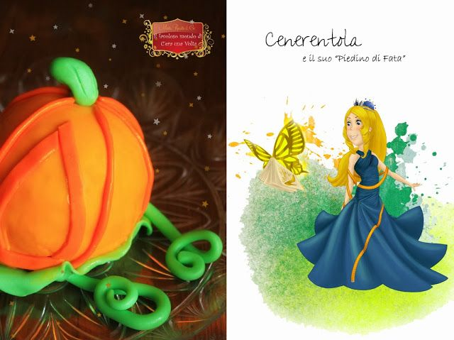 Cenerentola e la zuccarrozza   #fiabe #fairytale #cakedesign #pumpkin