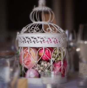 Vintage Birdcage Centrepiece HIRE £5 EACH 9 available (Merseyside/Lancashire)