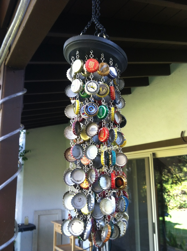 Diy Bottle Cap Wind Chime Bottle Caps Jump Rings Small