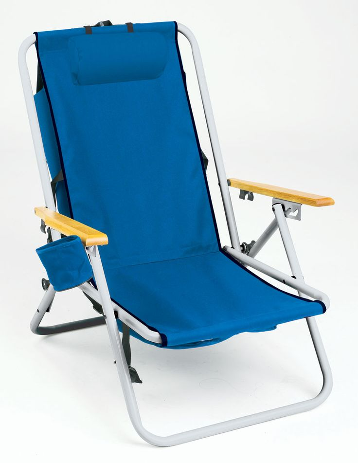 Hi-Back Steel Backpack Chair by Rio Beach $40.95 (Just google backpack chair to see others!)