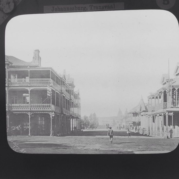 Magic Lantern Slide Vintage Johannesburg Transvaal Loveday Street South Africa