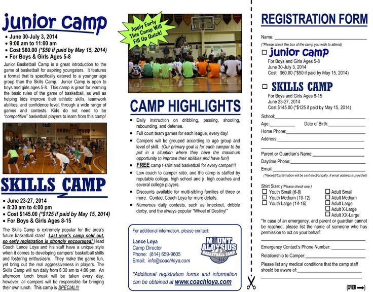 basketball camp flyer templates flyer templates creative market home