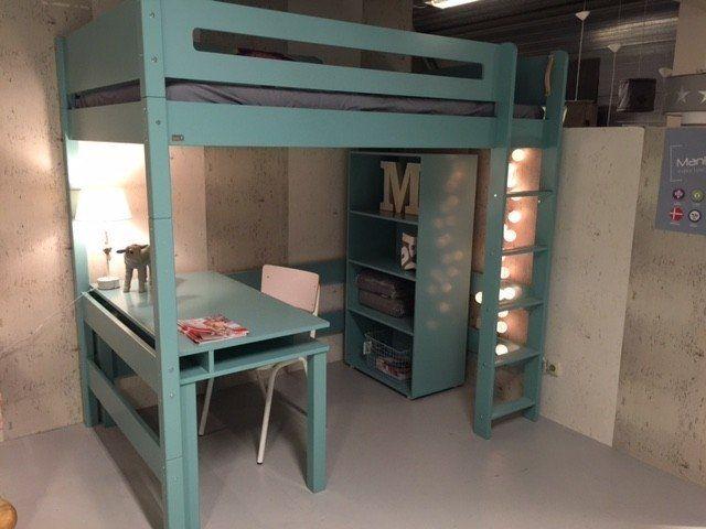 25 beste idee n over stapelbed op pinterest kinderstapelbed stapelbed bureau en hoek - Tiener meisje mezzanine slaapkamer ...