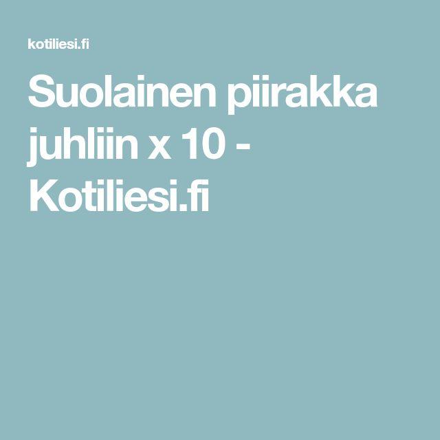 Suolainen piirakka juhliin x 10 - Kotiliesi.fi