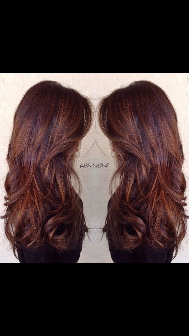 Caramel and butterscotch balayage ombré. I want my hair like this. So much. Beautiful rich warm brown with caramel and butterscotch hair melting ombré to give an amazing effect. This uses the technique of ombré balayage to created a varied natural looking sun kissed highlighted colour hair. This is my next style. Ready for winter.