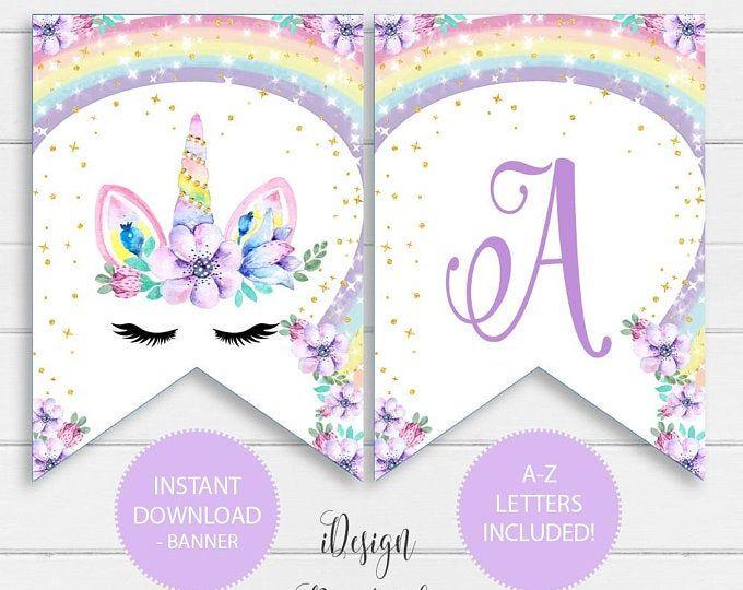 Magical Unicorn Rainbow Garland