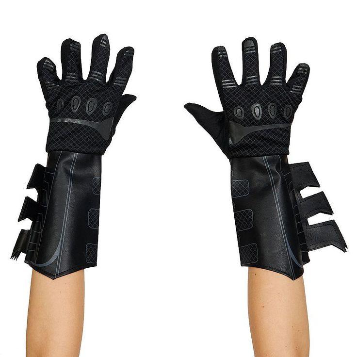 Kids DC Comics Batman Dark Knight Costume Gauntlet Gloves, Boy's, Black