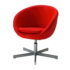 ikea red office chair