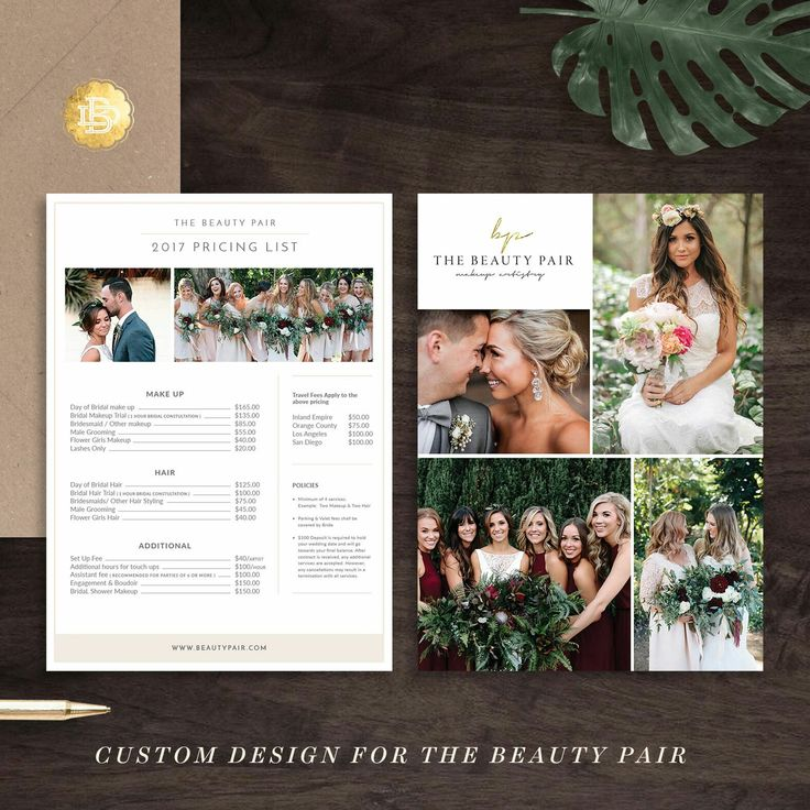 We are accepting customize your pricing guide or anything else based on our template. Thanks beauty pair for trusting us! Good luck for your business!