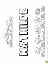Mathilde prénom de fille, version petite colline
