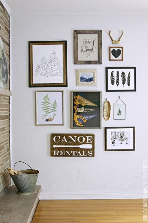 How to create an eclectic gallery wall by michaelsmakers lil blue boo frames wall decor - Eclectic picture frame wall ...
