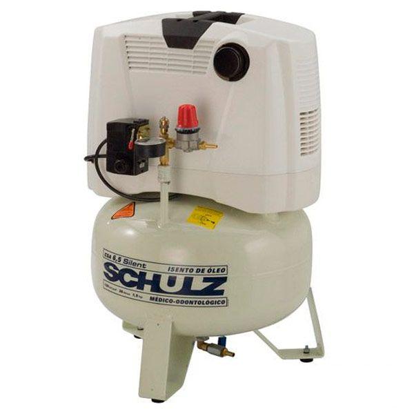 Compressor Odontologico Silencioso Schulz 30 litros 6.5 pés | Isento de Óleo - 220v