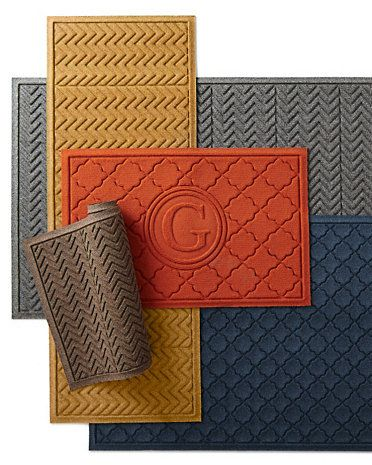Water Guard Mat from Garnet Hill - a gorgeous pop of color and pattern at the front door