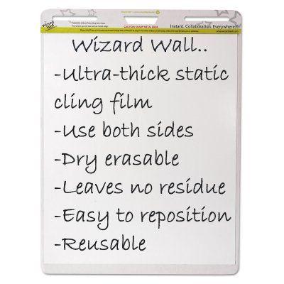 Wizard Wall Dry Erase Static-Cling Film Easel Pad - WZWEP152PK