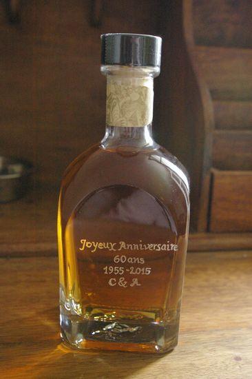 #bouteilledewhisky#gravée pour un anniversaire#cadeau personnalisé